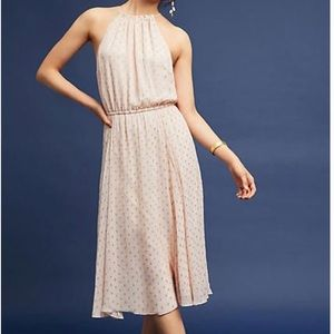 Anthropologie/Tracy Reese Blushed Metallic Midi